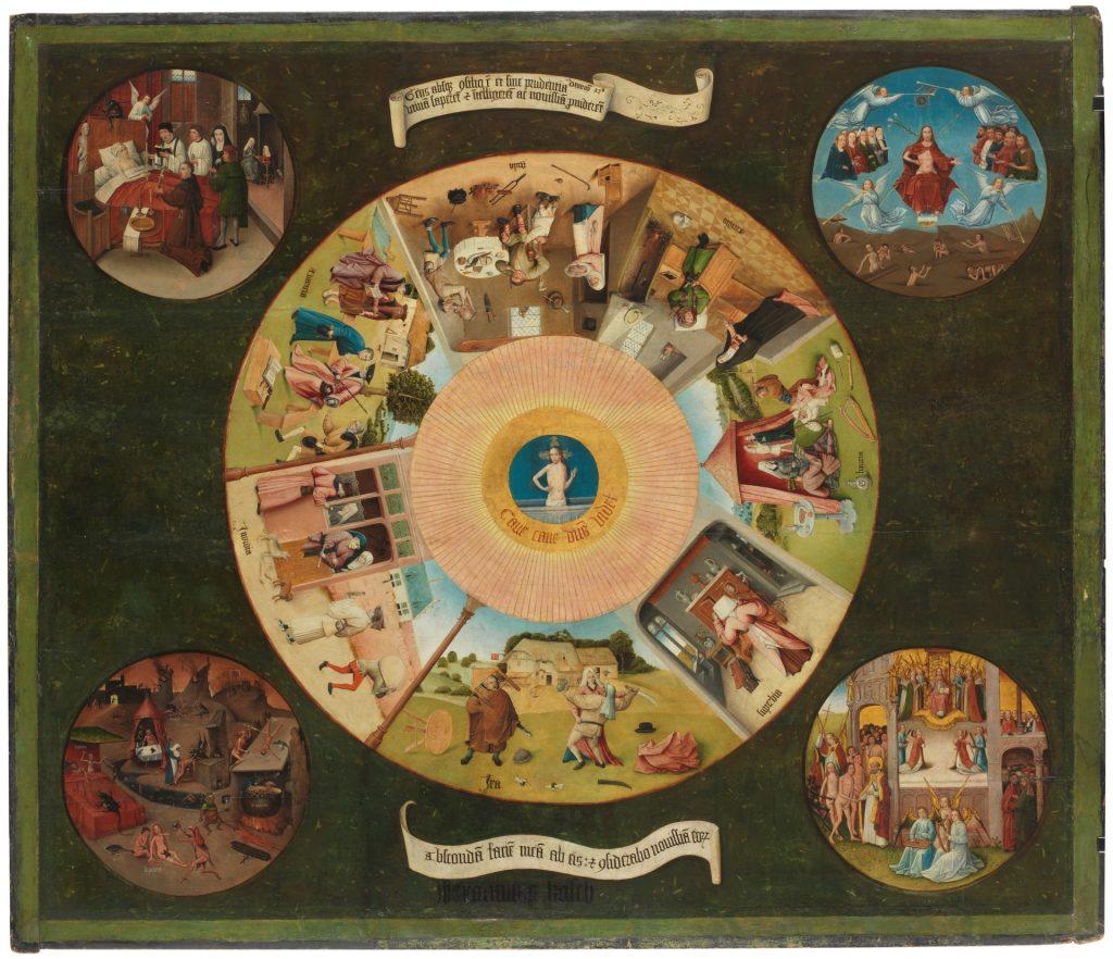 Mesa de los Pecados Capitales EL BOSCO Copyright de la imagen ©Museo Nacional del Prado
